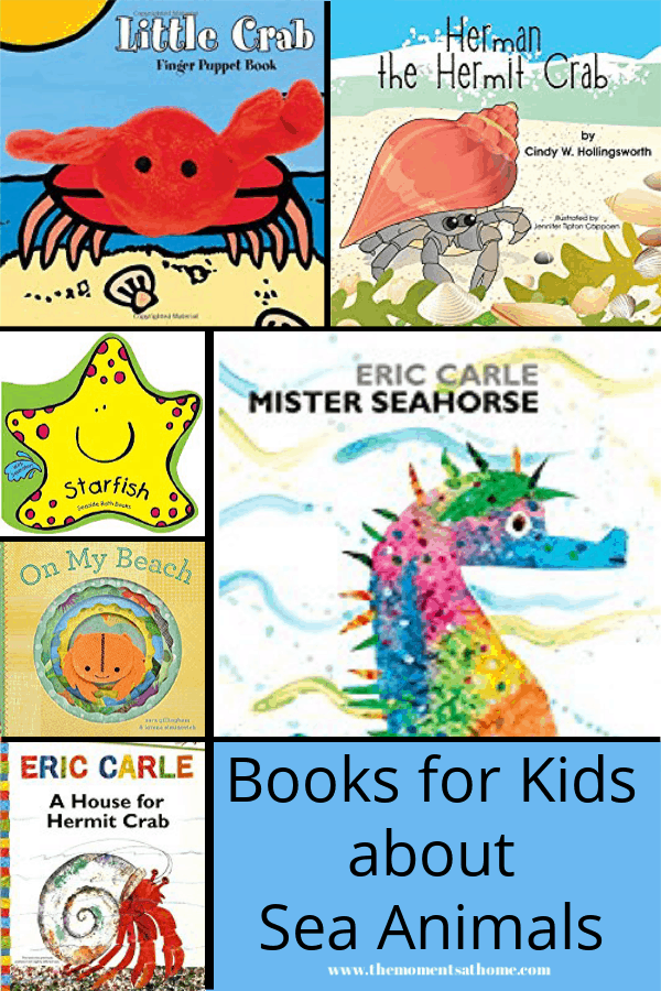 Books for kids about sea animals.