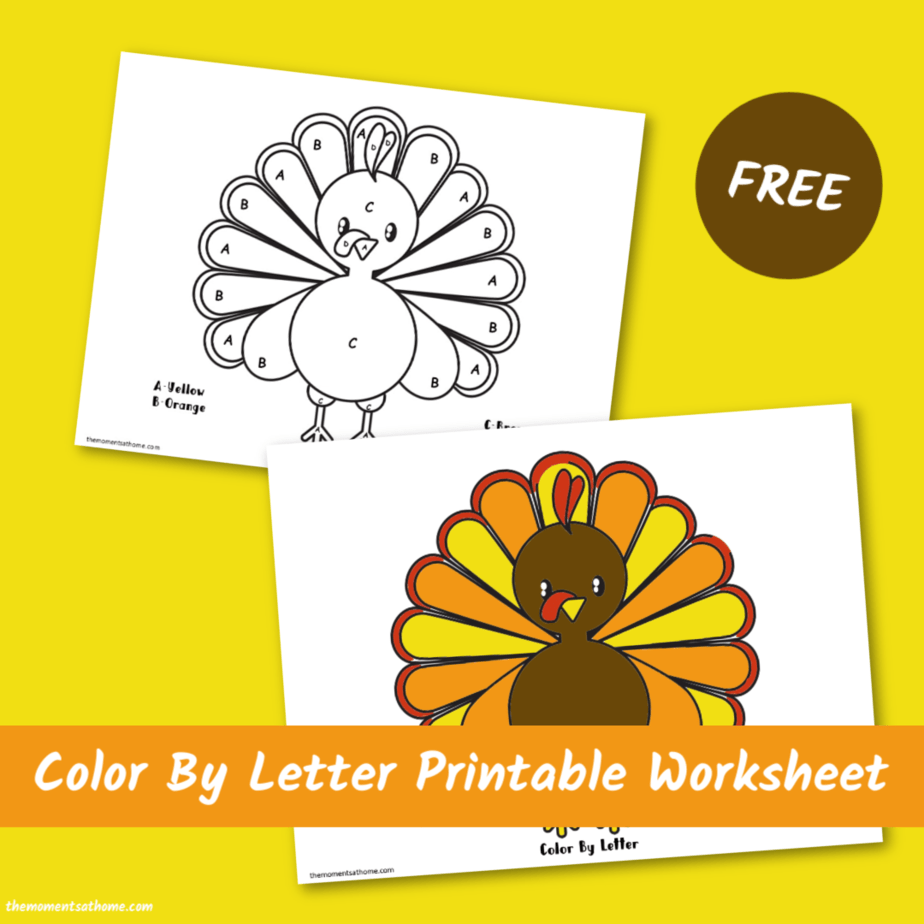 Turkey printable for kids. #preschool #freeprintables #turkeyprintable