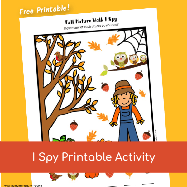 fall I spy printable