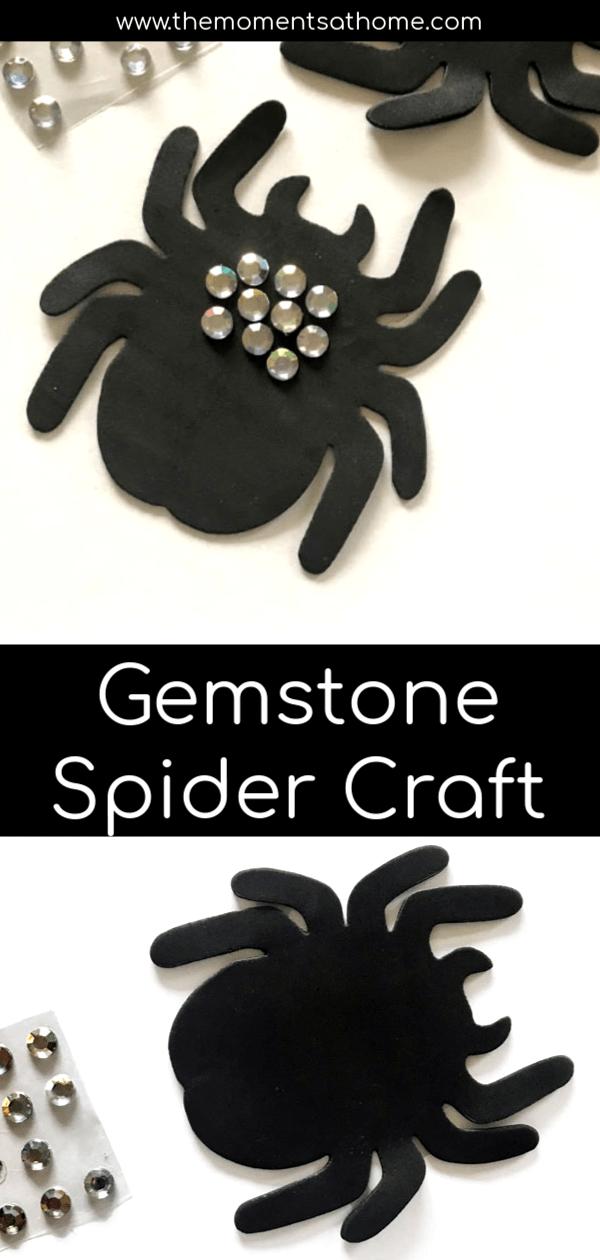 Simple spider craft for kids. #easycraftsforkids