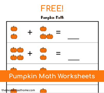 Pumpkin Math Printable Worksheets for Kids