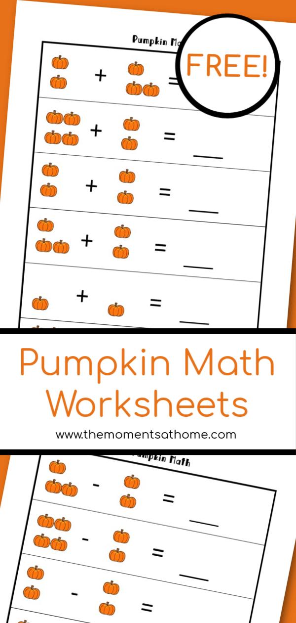 Pumpkin math printable worksheets for kids. Pumpkin themed worksheets for kids. #freeprintables #pumpkinprintable