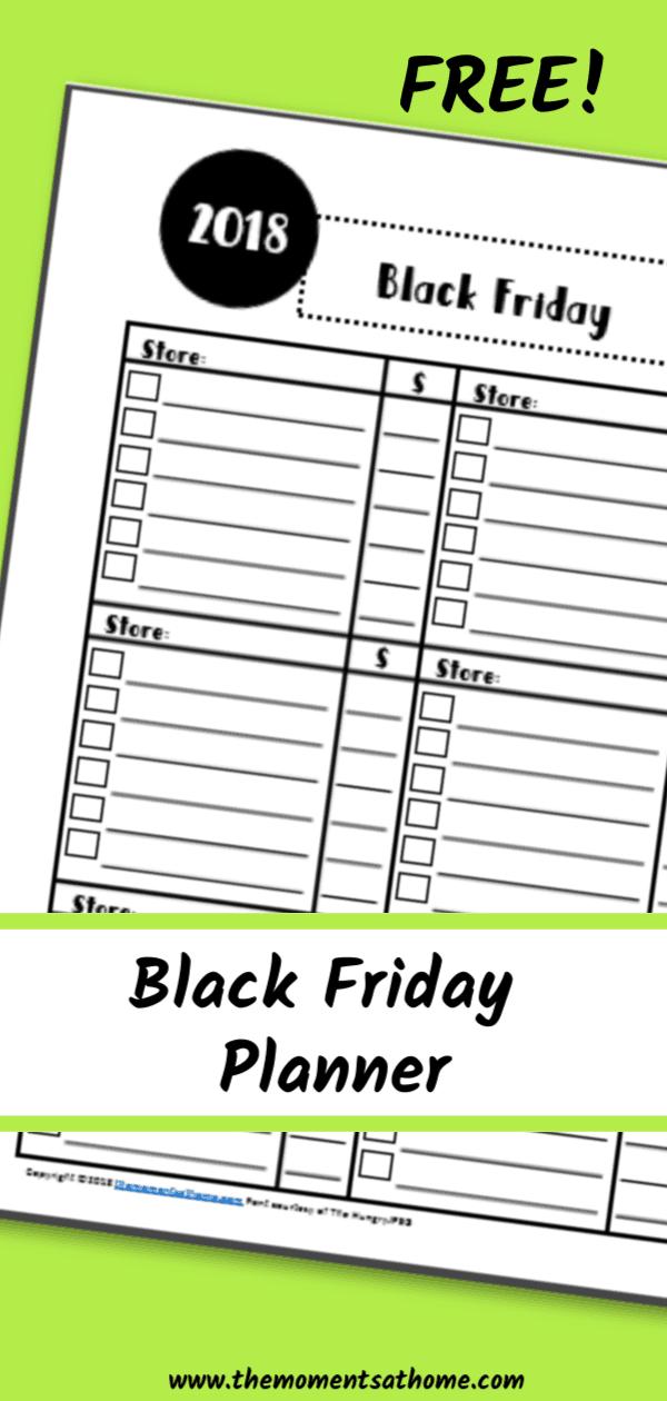 black Friday printable planner. #blackfriday