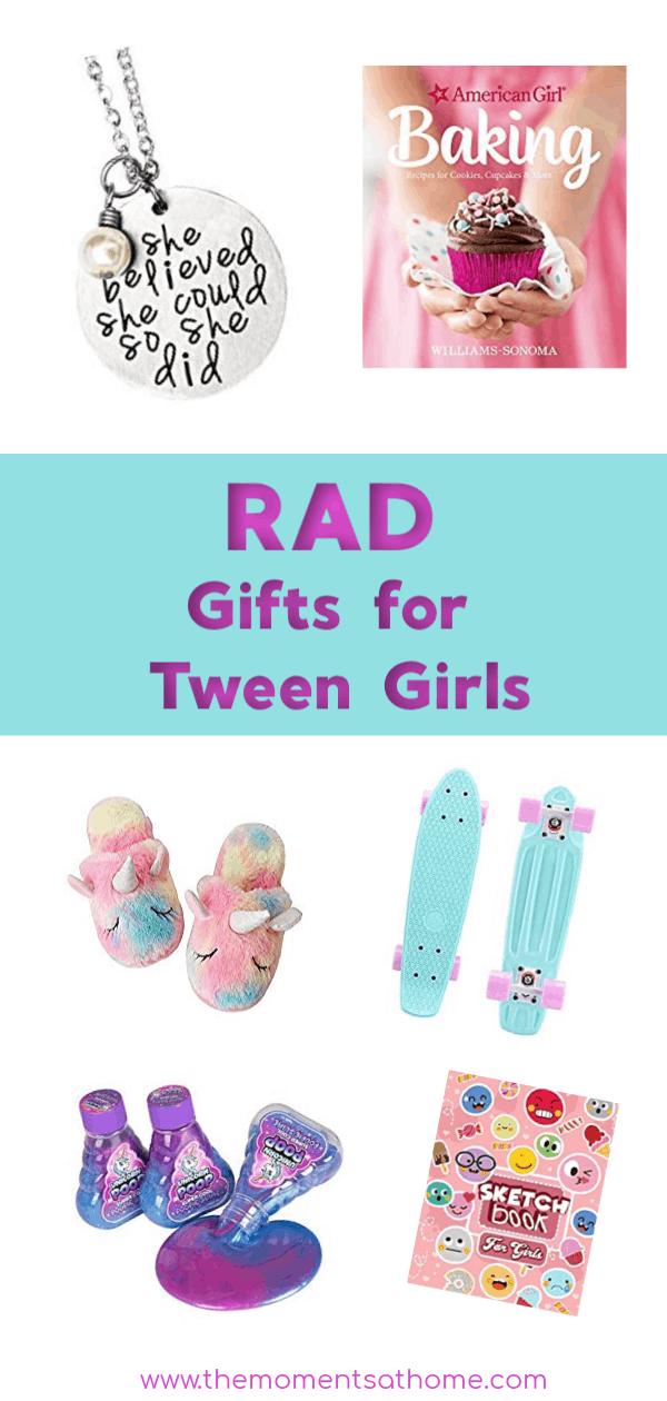 Rad gift ideas for tween girls. Gifts for tween girls. Gifts for teens. #giftguide #tweens