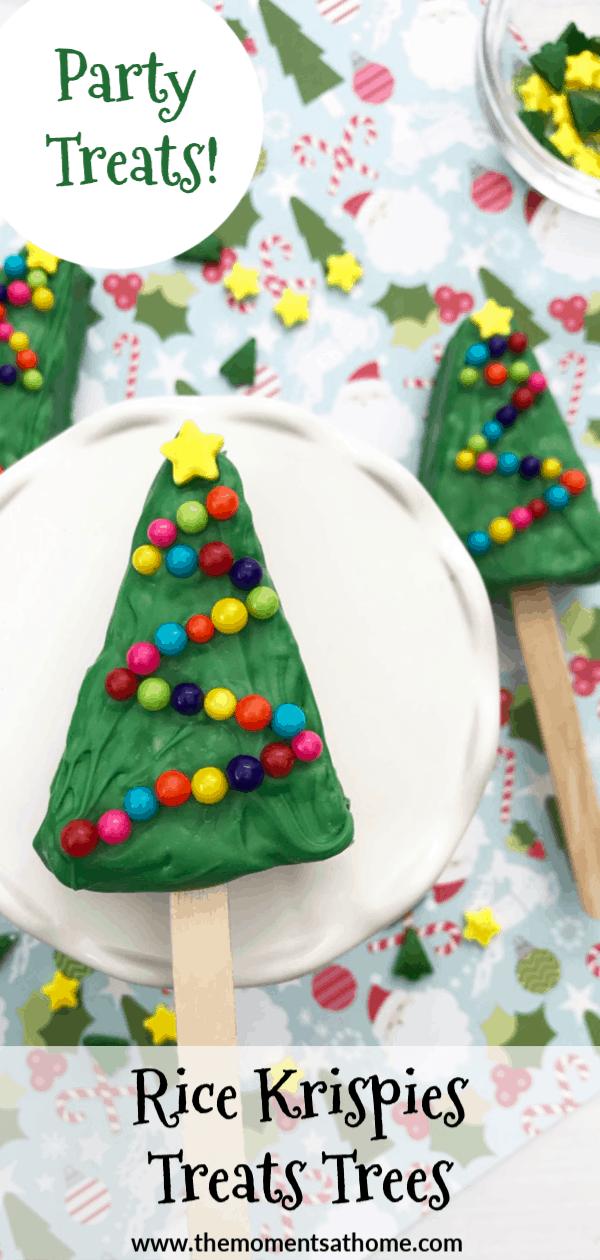 Rice Krispies Christmas Trees recipe. Christmas party treats.