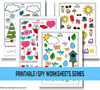 I Spy Printable Worksheet Series