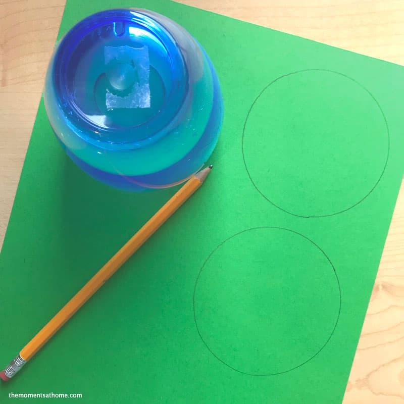 Shamrock craft for kids.