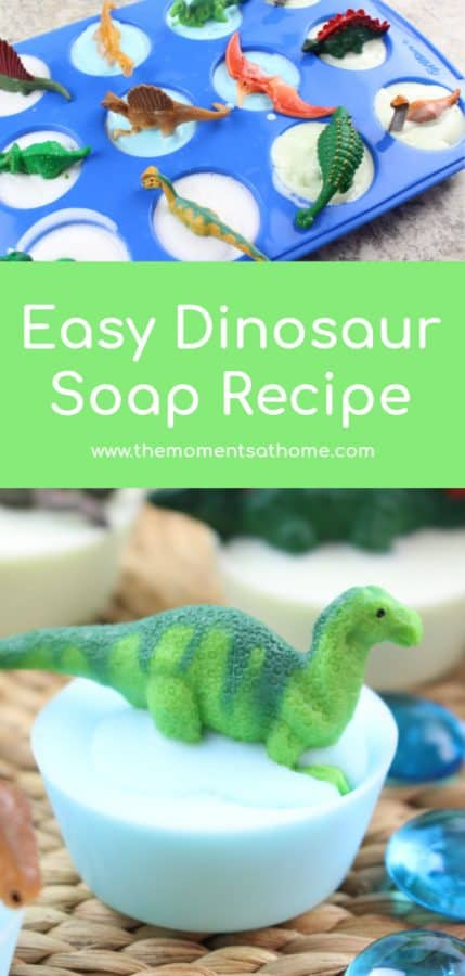 Easy dinosaur soap recipe. #dinosaurs
