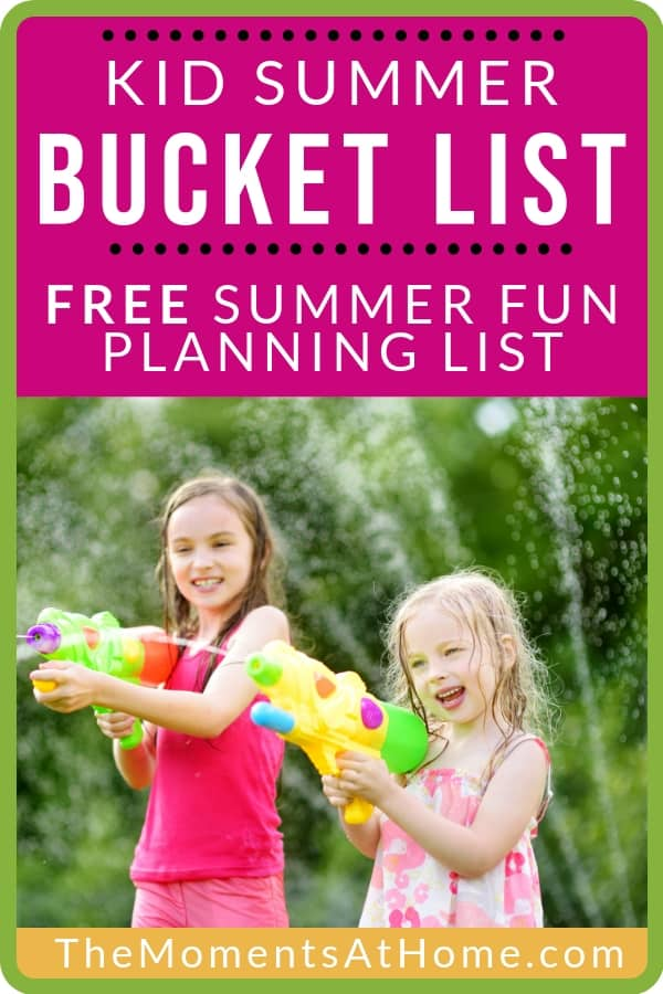 101 free things to add to your summer bucket list text with image of girls playing with water