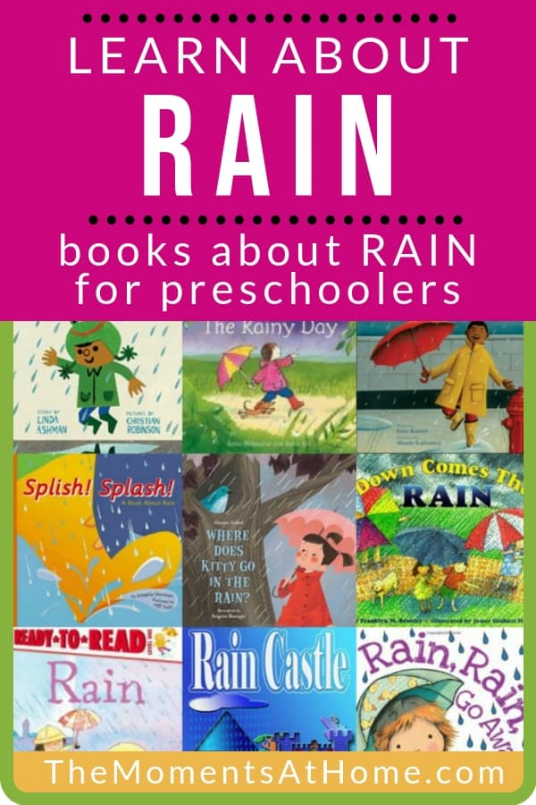 Read and learn about rain with these books for preschoolers