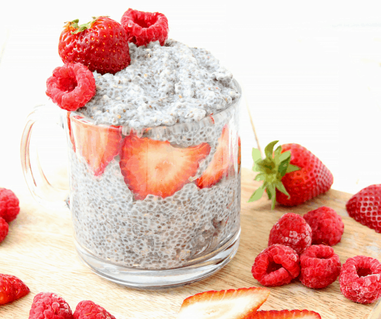 Mixed Berry Chia Pudding With Coconut Milk