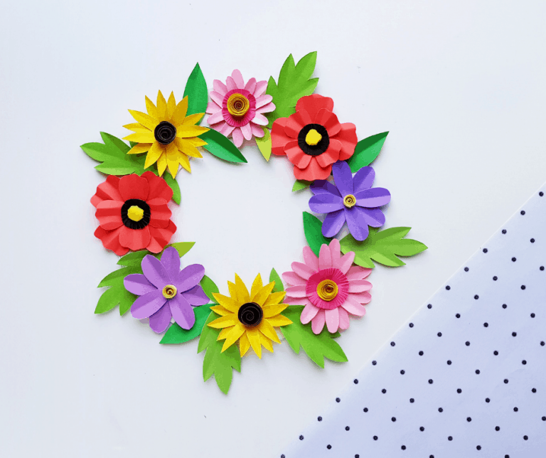 Easy DIY Paper Flower Wreath Craft