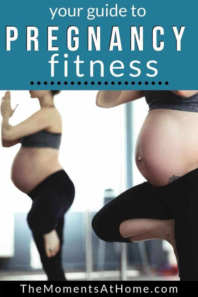 pregnant women doing yoga for exercise while expecting from The Moments At Home
