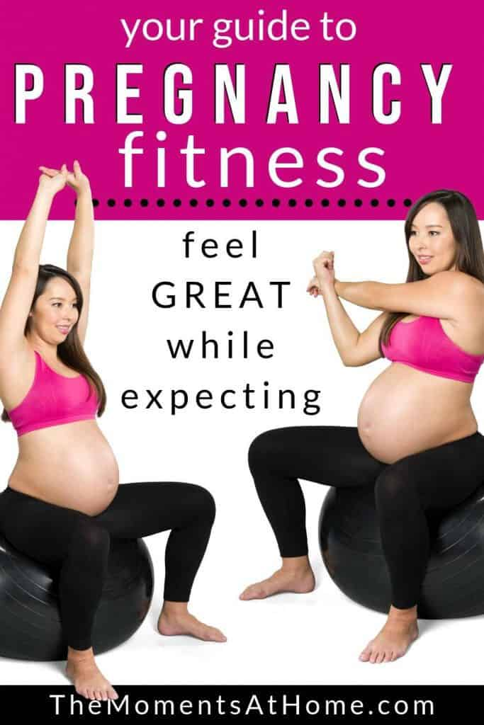women exercising while pregnant for pregnancy fitness by The Moments At Home
