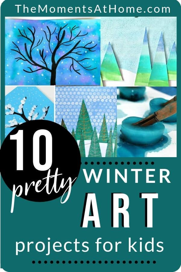 pretty examples of kids winter art project ideas