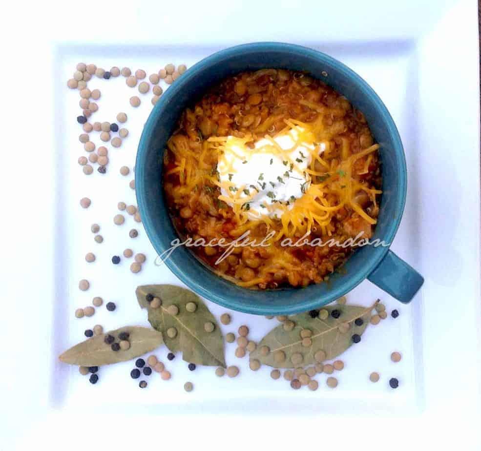 Delicious Quinoa Lentil Chili