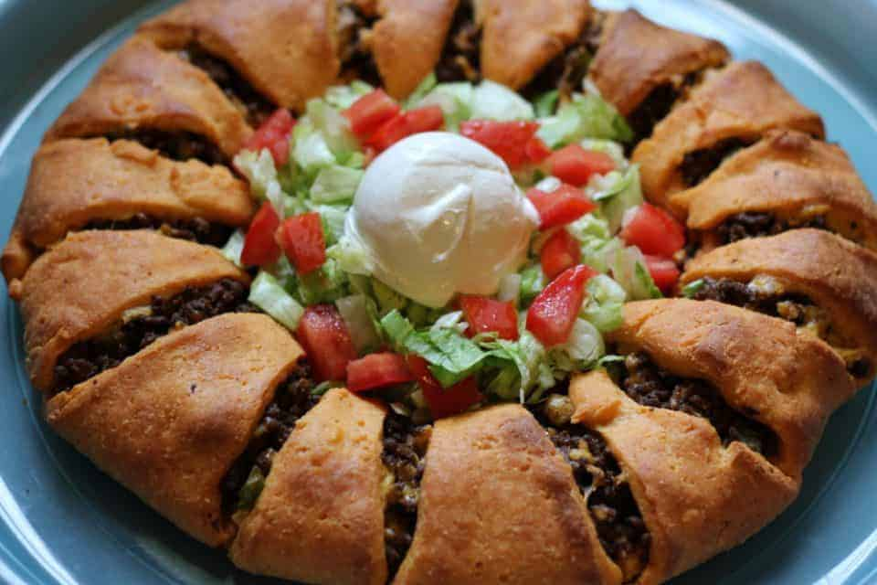 low carb tex mex taco ring