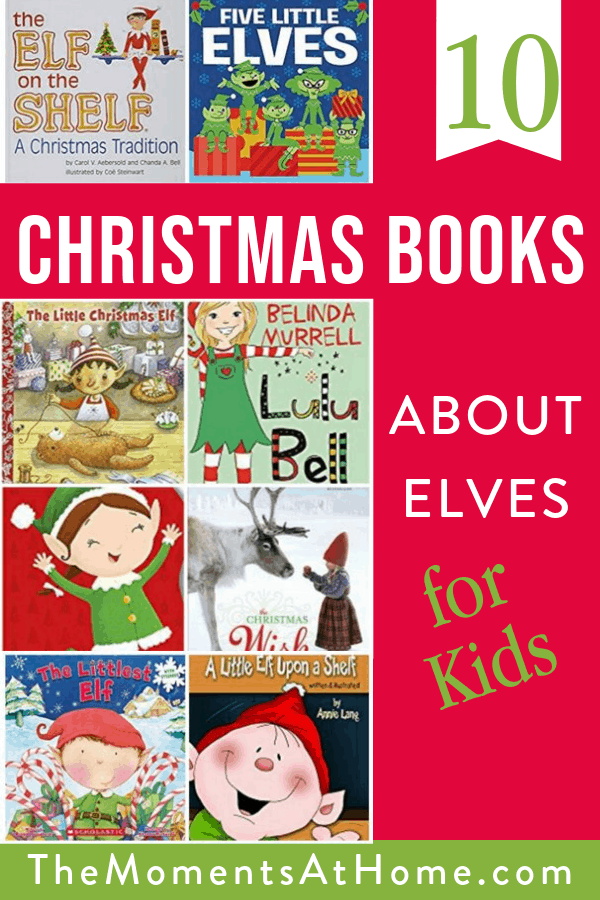 10 Christmas books about elves for kids book cover collage