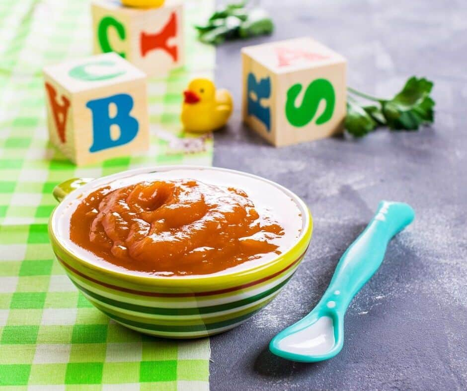 homemade baby food in a bowl