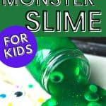 monster slime sensory play for kids
